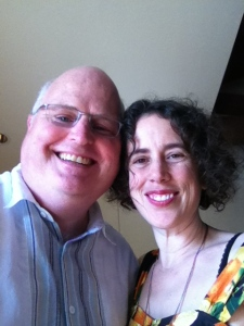 David Stone and Inlandia Laureate (2012-2014) Gayle Brandeis at the launch of the anthology she edited, Orangelandia:  The Literature of Inland Citrus