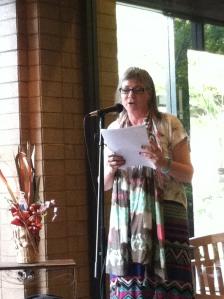 Cindy Rinne singing her verse