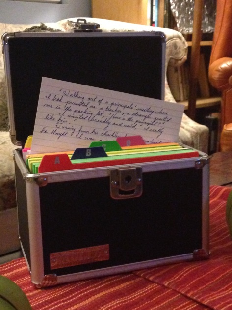 a anecdote box with a section for each member in our family