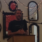 James Ducat read a powerful group of poems that came out of a random knife attack he experienced.