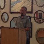 Kenji Liu, national winner of the inaugural Hillary Gravendyk Prize, read from his prize winning manuscript.