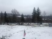 A view from Hickory Grove Cemetery across the valley to the hill were my family's ancestral farm was located